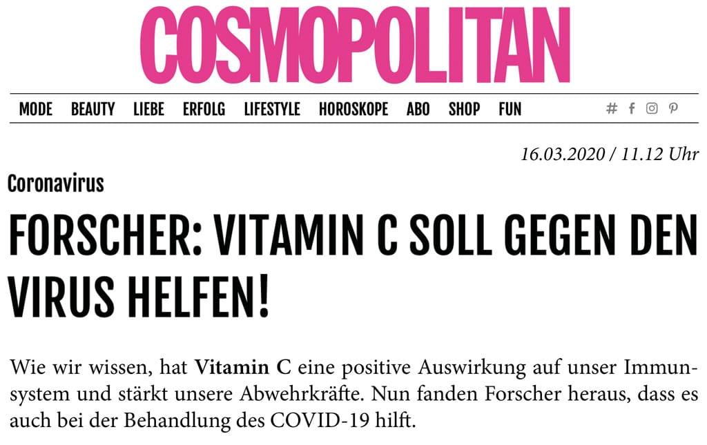 Rheuma Akademie Vitamin C soll gegen Coronavirus helfen