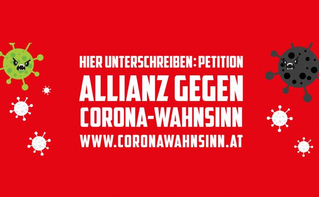 Banner Allianz gegen Coronawahnsinn