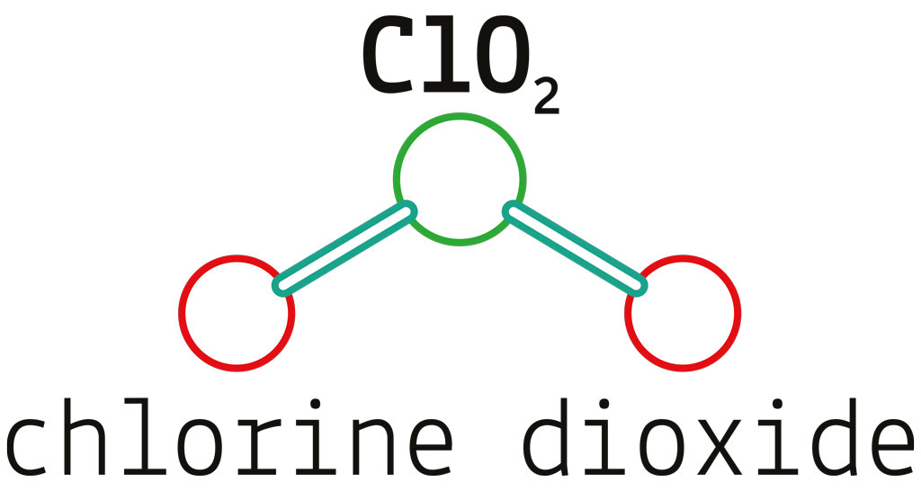 Rheuma Akademie ClO2 chlorine dioxide molecule