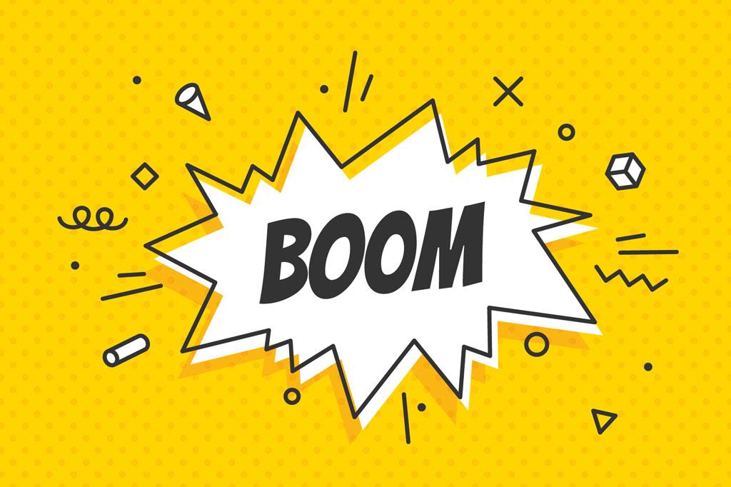 Rheuma Akademie Boom speech bubble